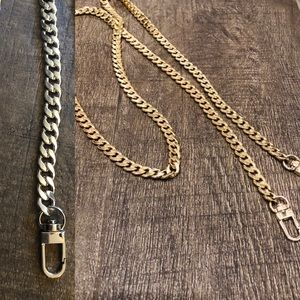 Handbags - NEW gold or silver chain to convert to crossbody